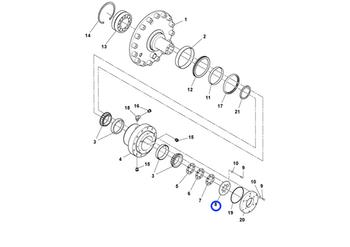 Chapa do Tambor da Roda - Volvo CE - 13502166 - Unitário