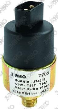Sensor de Pressão do Óleo - 3-RHO - 7703 - Unitário