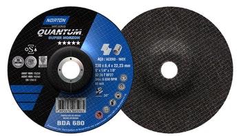 Disco de desbasteQuantum - 230x6,4x22,23mm - Norton - 66252841161 - Unitário