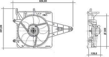 GMV Resfriamento - Valeo - 4DA026A - Unitário