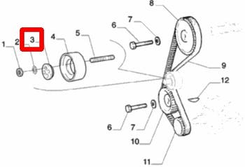 Cubo do Rolamento - Polia - Original Fiat - 5973923 - Unitário