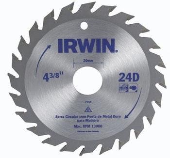Lâmina Serra Circular 110x20mm com 24 Dentes - Irwin - 014104 - Unitário
