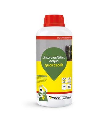 Impermeabilizante Pintura Asfáltica Acqua 1L - Quartzolit - 38013.14.34.056 - Unitário