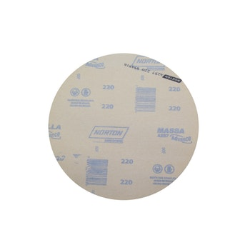 Disco de lixa massa A257 grão 220 230mm s/ furo - Norton - 77696068008 - Unitário
