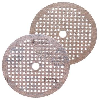 Disco de lixa seco A275 grão 320 150mm c/ x furos - Norton - 69957349657 - Unitário