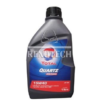 Óleo Lubrificante Semi-Sintético para Motor TOTAL Quartz SM 5000/7000 15W40 - Renotech - RN 176462 - Unitário