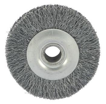 Escova Circular Aço com Furo e Fio 0,20mm 15000RPM - Abrasfer - 7000-15A - Unitário