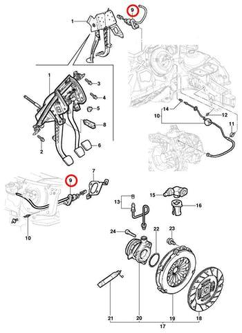 Cilindro Mestre de Embreagem - Original Chevrolet - 93323612 - Unitário