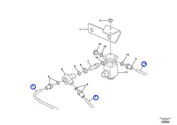 Tubulação - Volvo CE - 980832 - Unitário