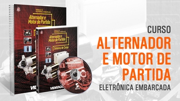Curso - Eletrônica Embarcada - Alternador e Motor de Partida - Módulo 7 - VIDEOCARRO - 11.10.01.243 - Unitário