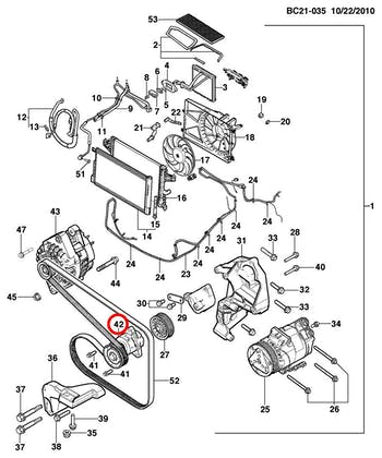 Tensor Da Correia Do Alternador E Direção S/Ac - Original Chevrolet - 94702968 - Unitário