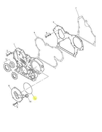 Anel de Vedação da Bomba Injetora e Caixa de Distribuição - PERKINS - MP10074 - Unitário