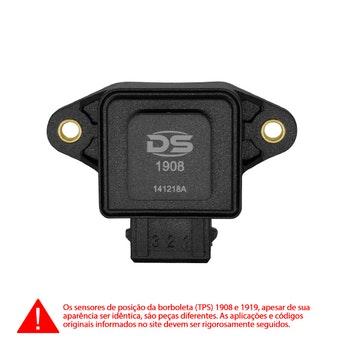 Sensor de Posição da Borboleta (TPS) - DS Tecnologia Automotiva - 1908 - Unitário