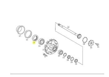 Anel Vedador do Cubo de Roda - Original Mercedes-Benz - A3869977247 - Unitário