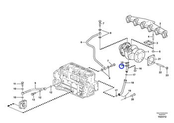 Tubo da Linha de Retorno - Volvo CE - 20450979 - Unitário