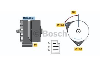 ALTERNADOR K1 (-) 14V 23/55A - Bosch - 0120489917 - Unitário