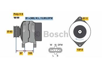 ALTERNADOR HD10 28V 150A - Bosch - 0124655102 - Unitário
