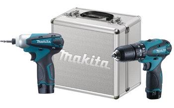 Kit Parafusadeira e Furadeira HP330D + Furadeira de Impacto TD090D com 2 Baterias 12V - Makita - DK1493 - Unitário
