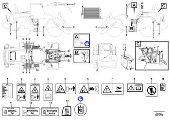 Decalque - Volvo CE - 11444287 - Unitário