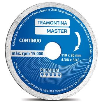 """Disco de Corte Diamantado Contínuo Premium 4.3/8"""" - Tramontina - 42594104 - Unitário"""