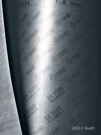 Papelão Hidráulico NA 1100 - Grafite Espessura 2,40mm Folha 1,5x1,6mm - Teadit - NA-1100-MET-2,4 - Unitário