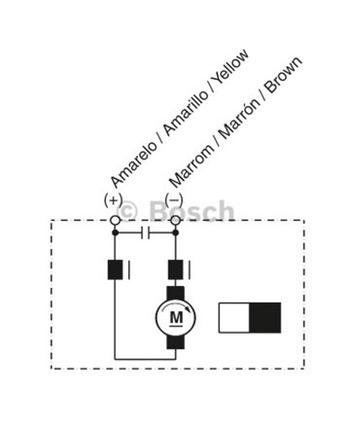 MOTOR DE VENTILAÇÃO - Bosch - 9130451123 - Unitário