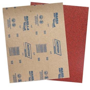 Folha de lixa massa A257 grão 50 - Norton - 05539503054 - Unitário