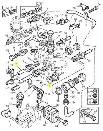 Tubo de Combustível de Baixa Pressão da Bomba Alimentadora - PERKINS - 4121C006 - Unitário
