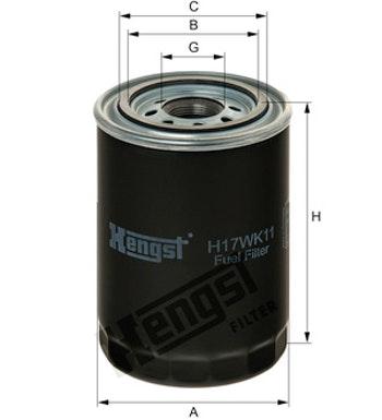 Filtro de Combustível - Hengst - H17WK11 - Unitário
