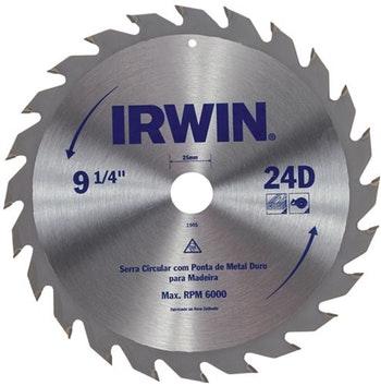 Lâmina Serra Circular 235X25mm com 48 Dentes para Madeira - Irwin - 014113 - Unitário