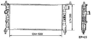 Radiador de Resfriamento - Valeo - 6TA003A - Unitário