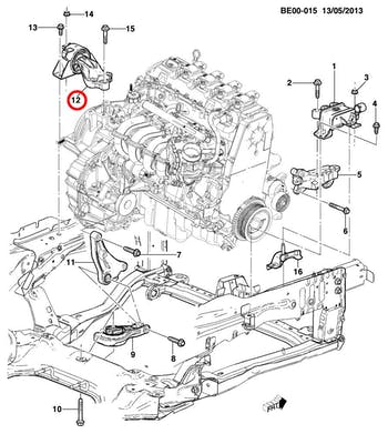 Coxim Lado Esquerdo Do Câmbio Manual - Original Chevrolet - 95032352 - Unitário