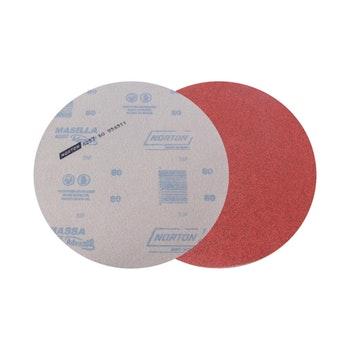 Disco de lixa massa A257 grão 80 230mm s/ furo - Norton - 77696067986 - Unitário