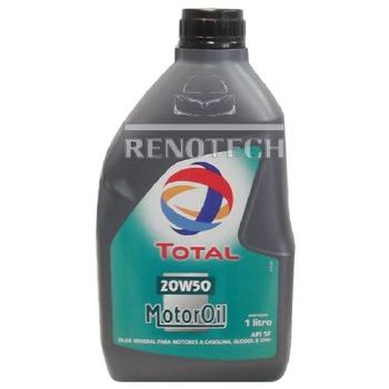 Óleo Lubrificante Mineral para Motor TOTAL Motor Oil 20W50 - Renotech - RN 176431 - Unitário