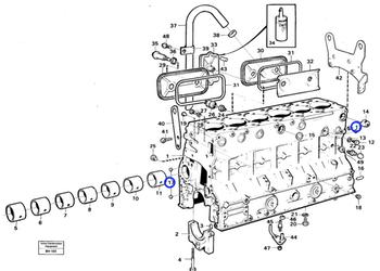 Selo da Válvula de Controle - Volvo CE - 955082 - Unitário