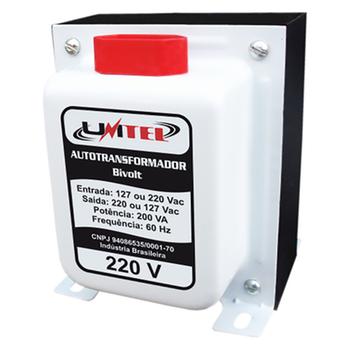 Autotransformador Transformador de Tensão 200VA - Unitel - 00008 - Unitário