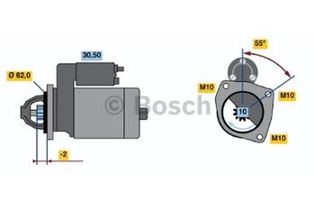 MOTOR DE PARTIDA DW (R) 12V 1,4 KW - Bosch - 0001108128 - Unitário