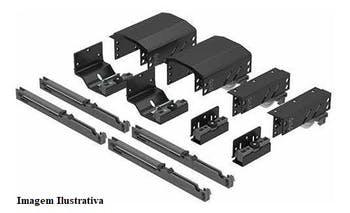 Sistema de Porta de Correr Dominus com Amortecedor para 3 Portas 20 a 50Kg