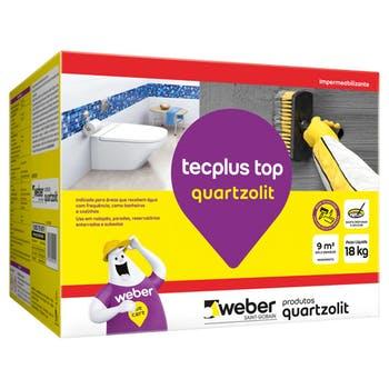 Argamassa Impermeabilizante Tecplus Top 18kg - Quartzolit - 33223.09.34.051 - Unitário
