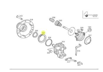 Anel de Medição - ABS no Cubo de Roda - Original Mercedes-Benz - A3013340315 - Unitário