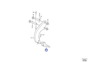 Dente - Volvo CE - 16010327 - Unitário