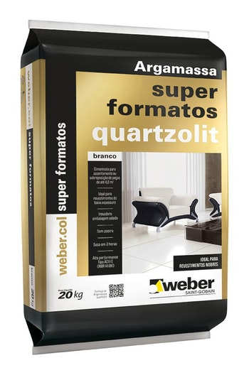 Argamassa Super Formatos 20kg Tipo ACIII-E Embalagem Plástica - Quartzolit - 0280.00000.0020PL - Unitário