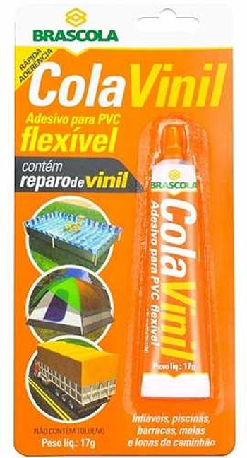 Adesivo Contato Vinil 17g - Brascola - 3140001 - Unitário
