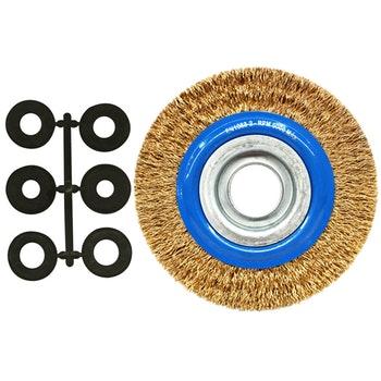 Escova Circular Aço Latonado Ø 152,4mm - Norton - 69957307712 - Unitário
