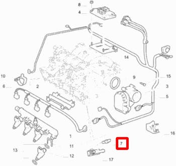 Sensor da Injeção/Plug Eletrônico - Original Fiat - 46753479 - Unitário