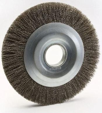 Escova Circular 200x25mm Fio 0,40mm 4500Rpm - Abrasfer - T.7000-200X25 - Unitário