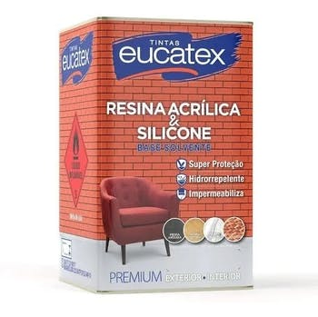 Resina Acrílica Base Solvente Lata 18L - Eucatex - 4800089.18 - Unitário