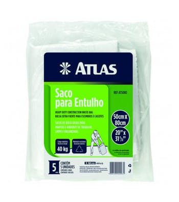 Saco para Entulho 40Kg - Atlas - AT5080 - Unitário