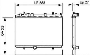 Radiador de Resfriamento - Valeo - 734338R - Unitário