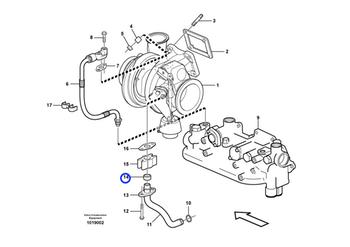 Anel de Vedação do Turbocompressor - Volvo CE - 469601 - Unitário